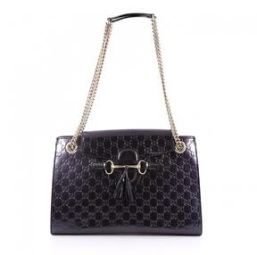 Gucci Purple Leather Handbag - PURPLE - STYLE