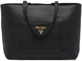 Prada large leather tote