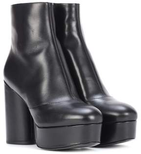 Marc Jacobs Leather plateau ankle boots