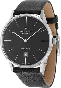 Hamilton Intra-Matic Automatic Black Dial Men's Watch