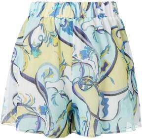 Emilio Pucci Printed Coverup Shorts