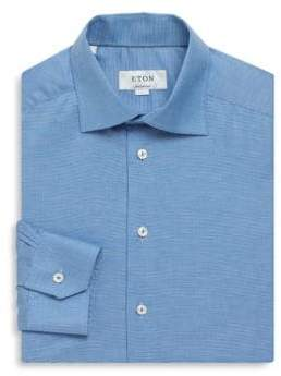 Eton Pin Stripe Contemporary-Fit Cotton Dress Shirt