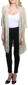 Easel Half Sleeve Cardigan