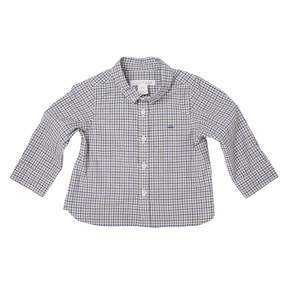 Marie Chantal Baby Boy Baby Checkered Shirt - Grey/Navy