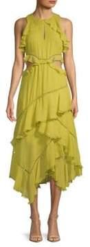 Red Carter Camila Ruffled Sleeveless Dress