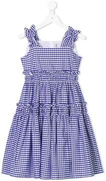 Simonetta checked ruffled dress