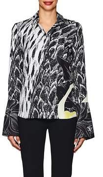 Derek Lam Women's Scarf-Print Silk Blouse