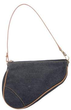 Christian Dior Denim Mini Saddle Bag