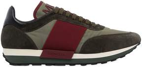 Moncler Horace Nylon & Leather Sneakers