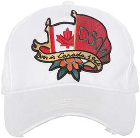DSQUARED2 Canadian Flag Canvas Baseball Cap