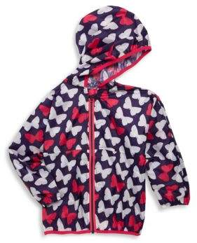 Hatley Little Girl's & Girl's Butterfly-Print Wind Breaker