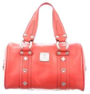 MCM Embellished Small Boston Bag