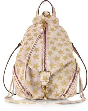 Rebecca Minkoff Nude Leather Convertible Mini Julian Backpack w/Stars - ONE COLOR - STYLE