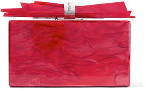 Edie Parker Wolf Marbled Acrylic Box Clutch