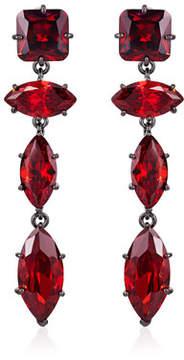 Fallon Jagged Edge Marquise Crystal Drop Earrings