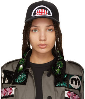 Miu Miu Black Patch Cap