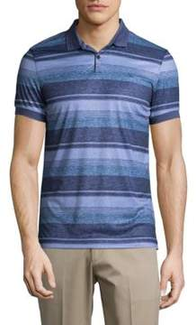 J. Lindeberg Stripped Jersey Polo Shirt