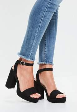 Missguided Black Platform Sandals