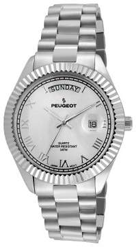 Peugeot Watches Men's Coin Edge Bezel Bracelet Watch - Silver