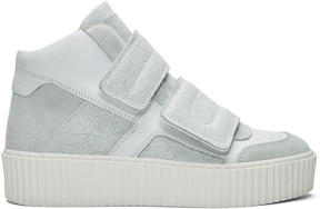 MM6 MAISON MARGIELA White Platform High-Top Sneakers