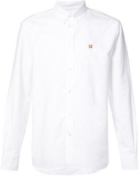 MAISON KITSUNÉ embroidered fox buttondown shirt