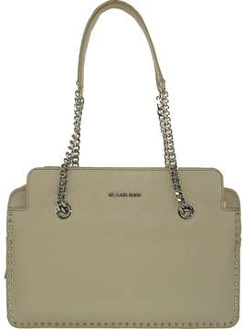 Michael Kors Women's Large Astor Leather Satchel Top-Handle Bag - Cement - CEMENT - STYLE