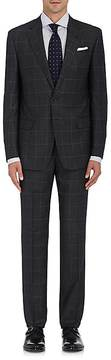 Giorgio Armani Men's Soft Checked Wool-Blend Two-Button Suit