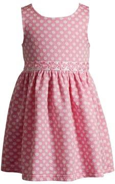 Youngland Baby Girl Dot Textured Dress