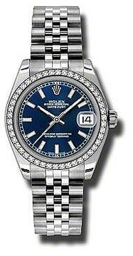 Rolex Datejust Lady 31 Blue Dial Stainless Steel Jubilee Bracelet Automatic Watch