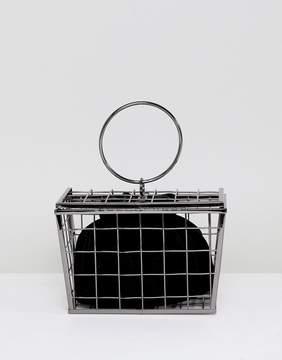 Asos DESIGN shopping basket cage clutch bag