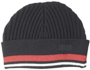 HUGO BOSS Men's Xianno Black Wool Beanie Hat (One Size Fits Most)