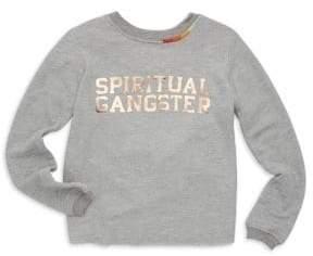 Spiritual Gangster Toddler's, Little Girl's& Girl's Fleece Logo Crewneck