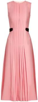 Emilia Wickstead Jolley pleated wool-crepe dress