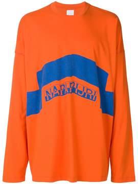 Martine Rose Napa By logo print long sleeved T-shirt