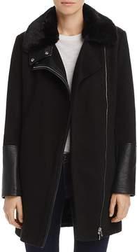 Aqua Faux Fur-Collar Coat - 100% Exclusive