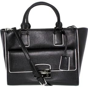 Michael Kors Women's Audrey Large Leather Top-Handle Satchel - Black - BLACK - STYLE
