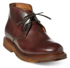 Ralph Lauren Tyree Vachetta Chukka Boot Dark Brown 10.5 D