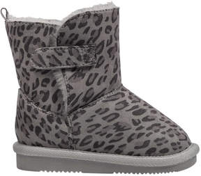 Joe Fresh Baby Girls' Print Cozy Boots, Grey (Size 6)