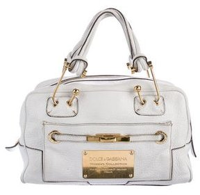 Dolce & Gabbana Leather Handle Bag - WHITE - STYLE