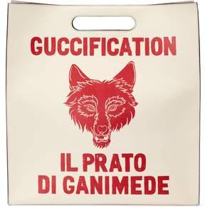 Gucci Il Prato di Ganimede Guccification print tote