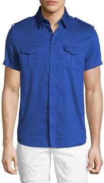 Karl Lagerfeld Short-Sleeve Military Shirt