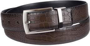 Croft & Barrow Men's Reversible Feather-Edge Faux-Crocodile Dress Belt