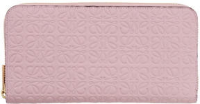 Loewe Pink Zip Around Anagram Wallet