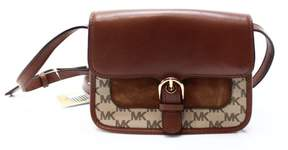 Michael Kors Brown Coated Canvas Signature Cooper Messenger Purse - BROWNS - STYLE