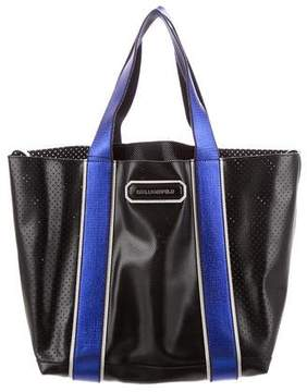 Karl Lagerfeld Perforated Sport City Tote
