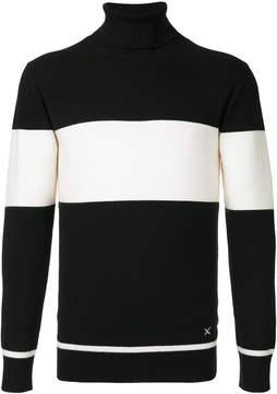 GUILD PRIME striped turtleneck sweater
