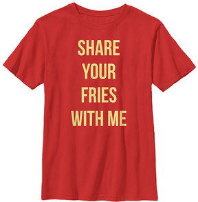 Fifth Sun Red 'Share Your Fries' Crewneck Tee - Boys