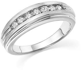Bloomingdale's Diamond Men's Band in Matte and Polished 14K White Gold, .50 ct. t.w. - 100% Exclusive