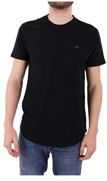Sun 68 Men's Black Cotton T-shirt.
