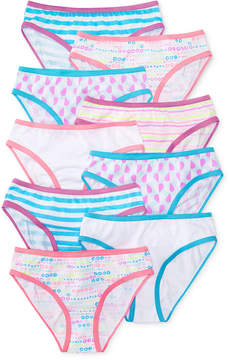 Maidenform 9-Pk. Fun Hearts Cotton Bikini Underwear, Little Girls & Big Girls